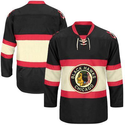 eb10700b7 Chicago blackhawks apparel · Chicago Blackhawks CCM Classic Throwback Jersey  – Black