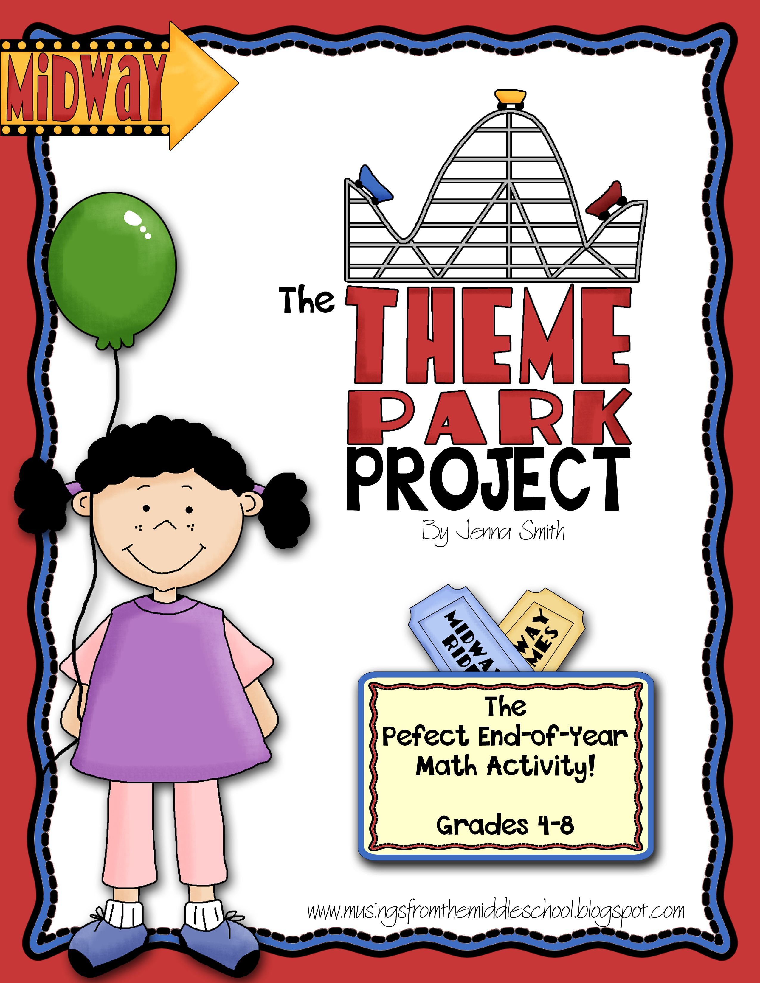 The Theme Park Project An End Of The Year Math Activity