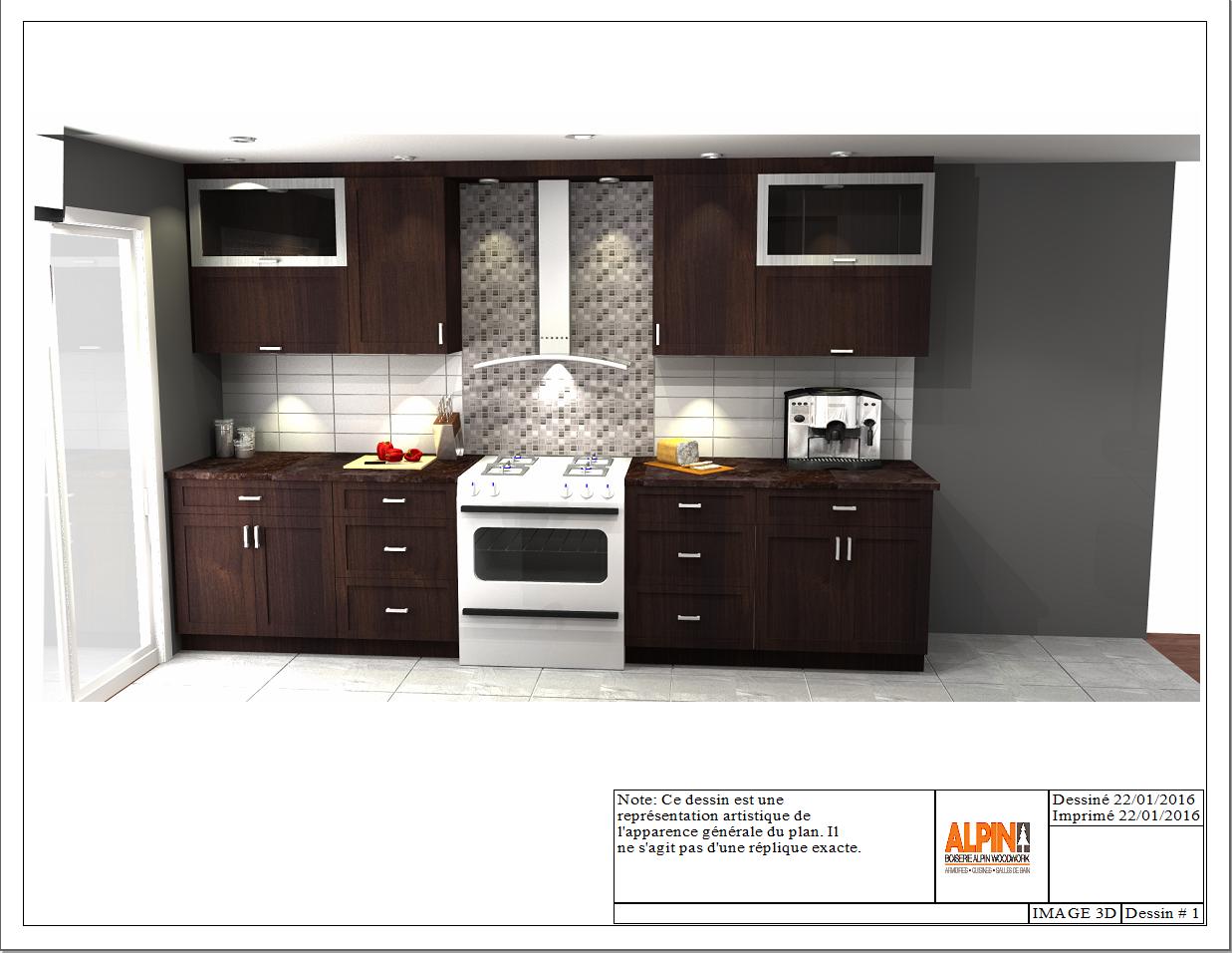 Kitchen Design 3D Concept  Cuisine Alpin  3D Concept Alpin Pleasing Kitchen Design Concept Review