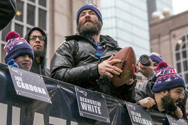Julian Edelman Photos Photos New England Patriots Victory Parade With Images Julian Edelman New England Patriots Patriots Julian Edelman