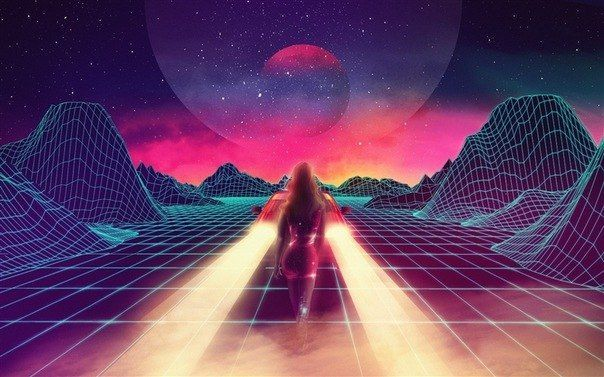 retro future art