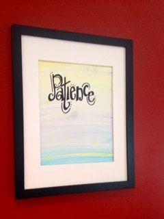 PATIENCE Original Handpainted Watercolor by worDSMITHstudios, $12.00