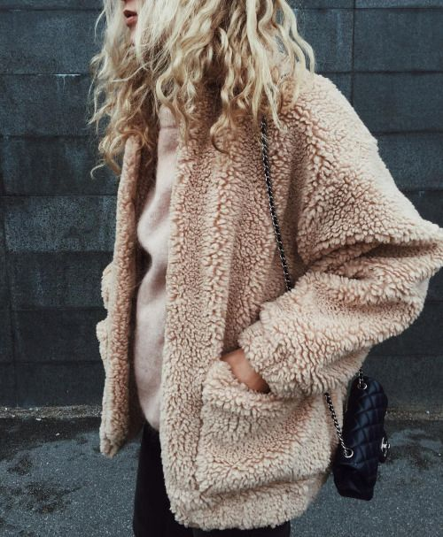 2579632d17278 the powder pink furry jacket. need this teddy fur coat!
