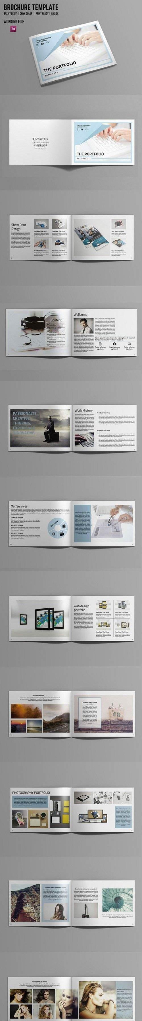 InDesign Portfolio Brochure-V506 695944 | Booklets | Pinterest