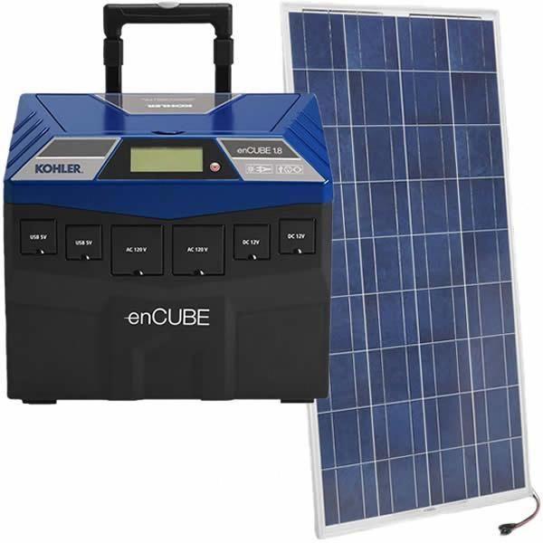 Kohler Encube 1440w Solar Power Portable Generator W 150 Watt Solar Panel Egd Encube Kit2 In 2020 Solar Energy Panels Portable Solar Generator Solar Panel System