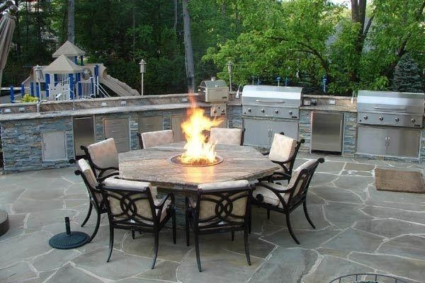 Gas Patio Fire Pits Considering Patio Table With Fire Pit Outdoor