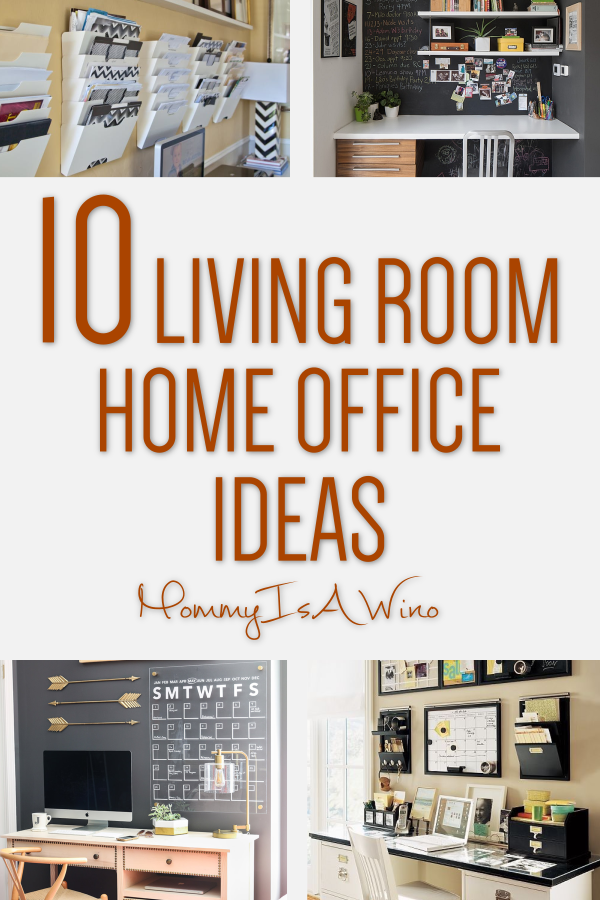 10 Creative Living Room Office Ideas Mommy Thrives Living Room Office Combo Living Room Decor Tips Living Room Office Space