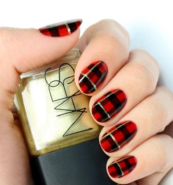 Uas decoradas en rojo que te impactaran uñitas P Pinterest - uas modernas