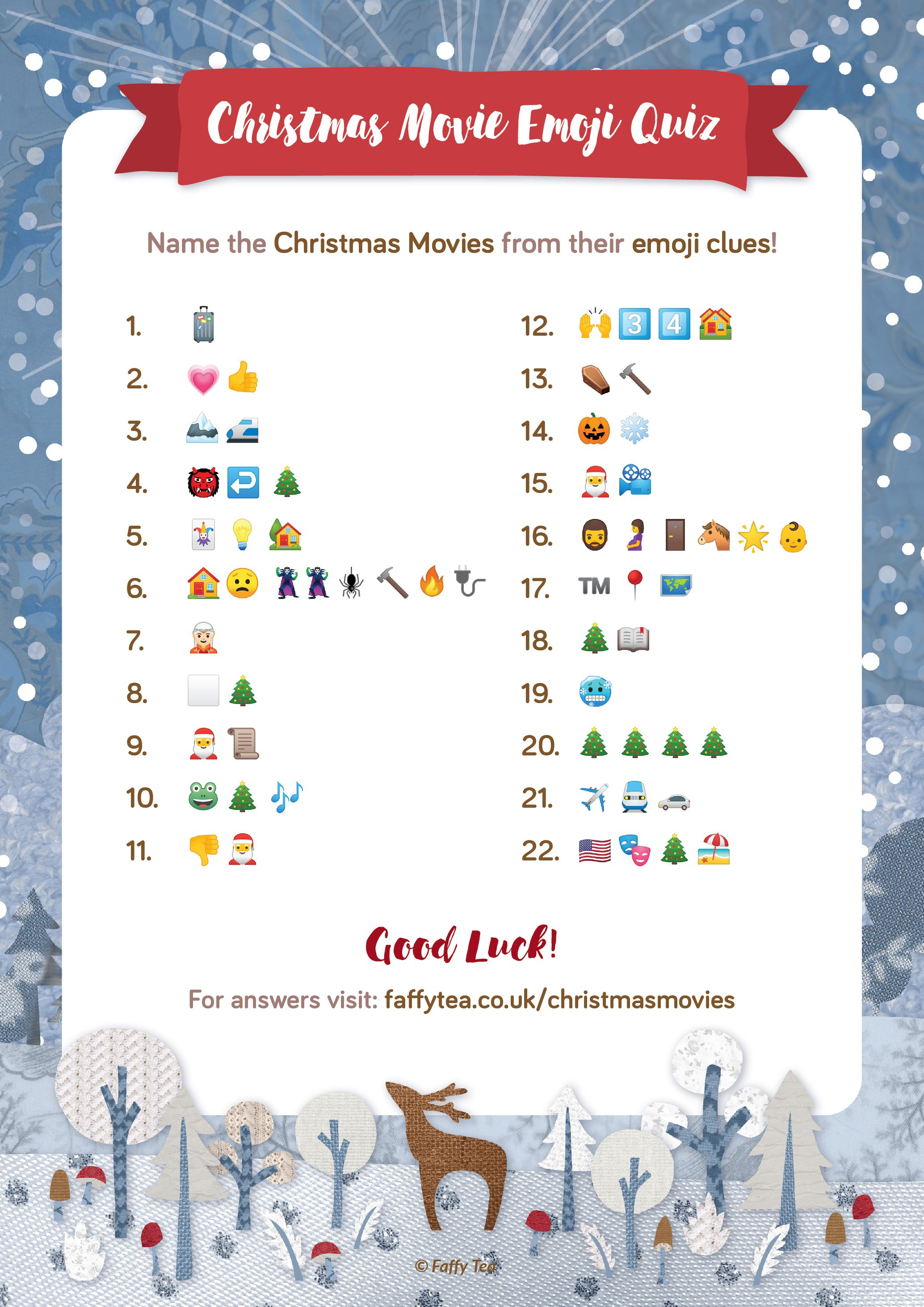 Free Christmas Movie Emoji Quiz In 2020 Printable Christmas Games Emoji Quiz Emoji Christmas