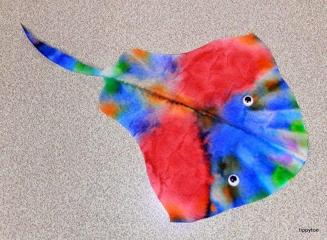 Tippytoe Crafts: Coffee Filter Stingray | Ocean art ...
