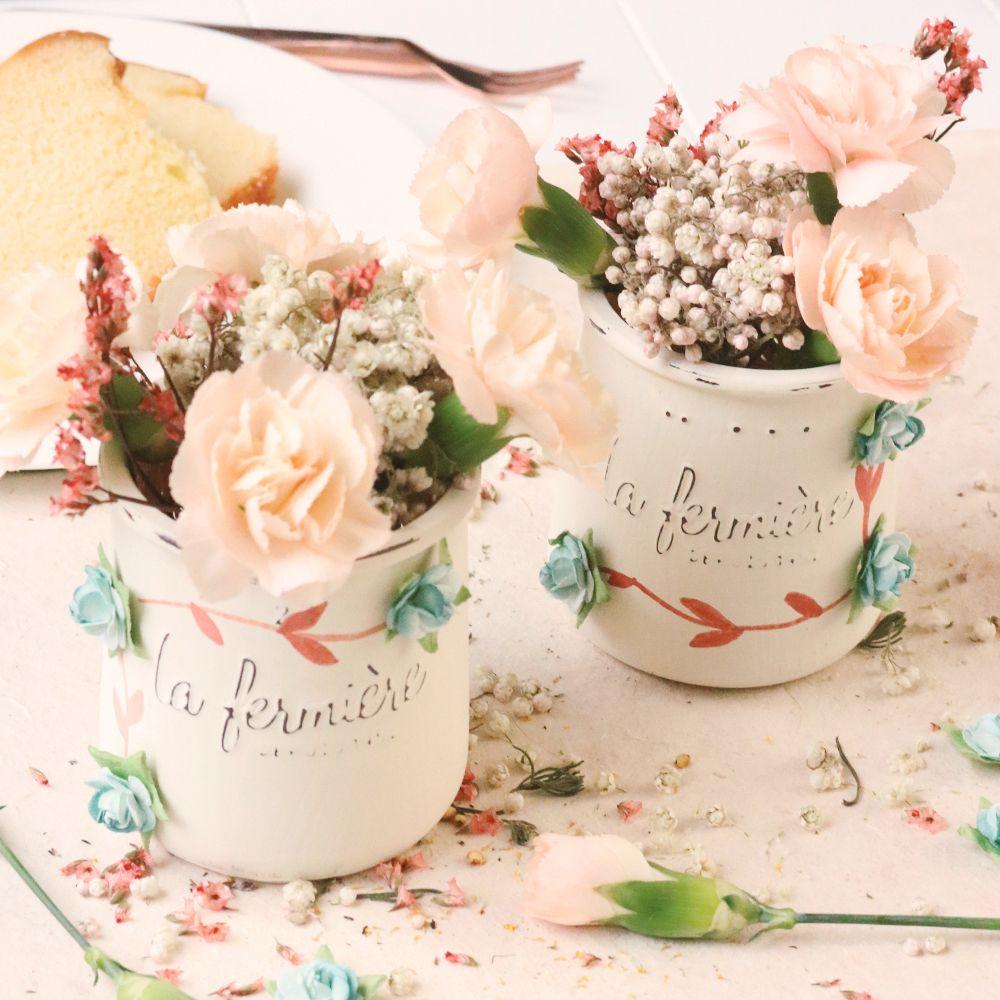 La Fermiere Glass Pot Diy Crafts With Glass Jars Beautiful Centerpieces Diy Flower Pots
