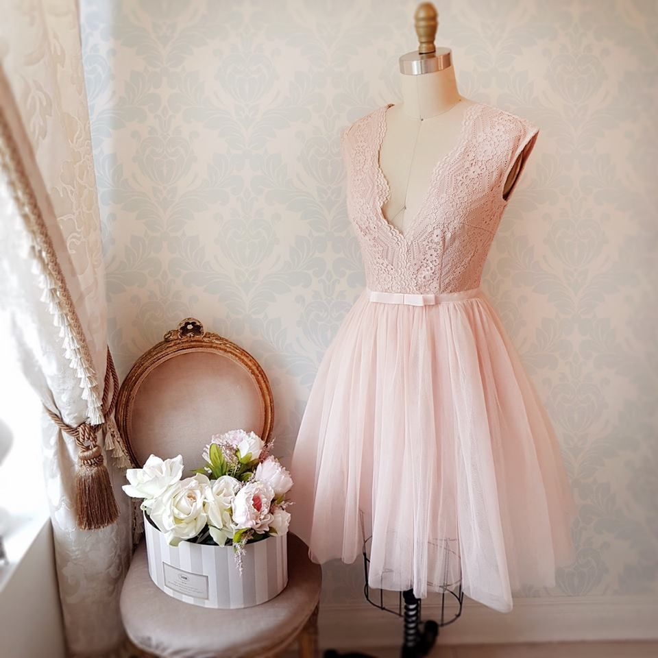 Athina tulle lace pink tulle and pale pink