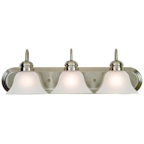 park row brushed nickel 24 wide bathroom light fixture lights