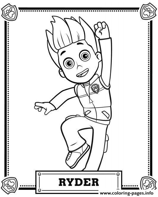 Paw Patrol Ryder Coloring Pages Printable And Book To Print For Free Find More Online Kids Adults Of
