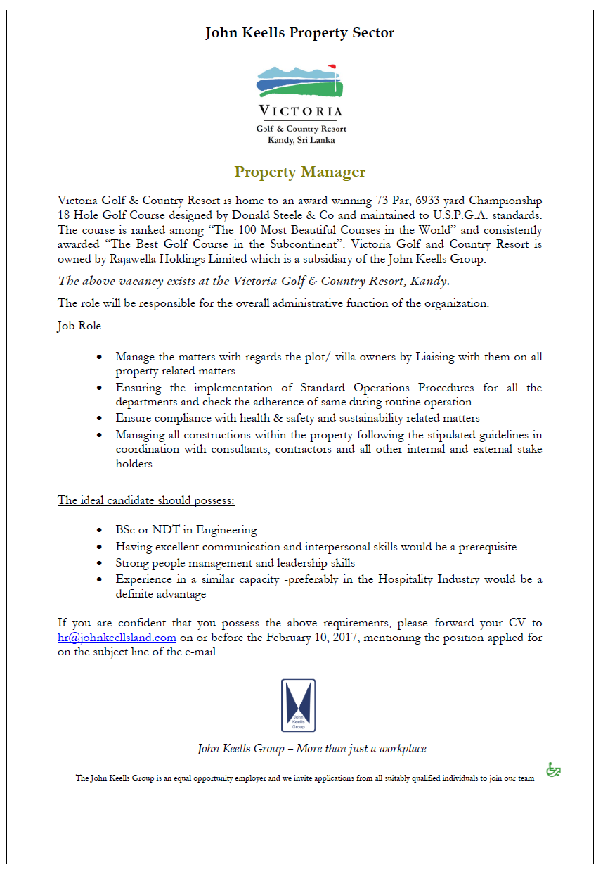 Property Manager at JKH Property Group | Career First | Management