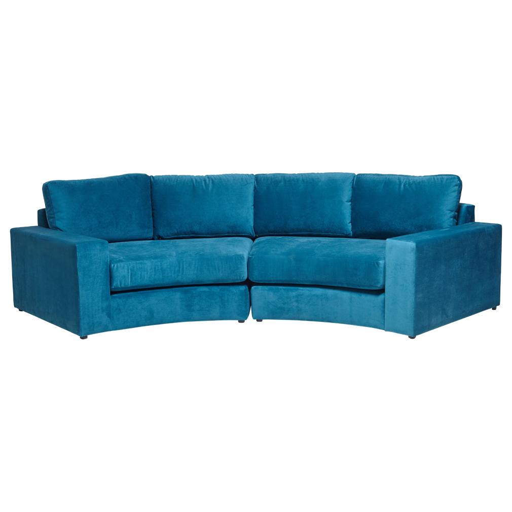 Best Minogue Curved Modular Sofa Made In Australia Blue 640 x 480