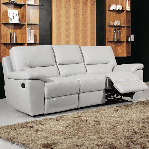 Henley Manual Recliner Grey Reclining Sofa Leather Sofa Grey