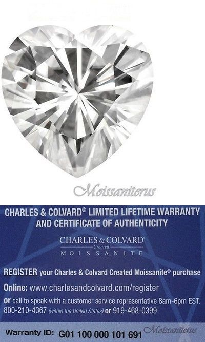 Synthetic Moissanite 110800: Loose Heart Shape Forever Classic 5.5X5.5Mm Moissanite=5/8 Ct Diamond W Cert BUY IT NOW ONLY: $199.99