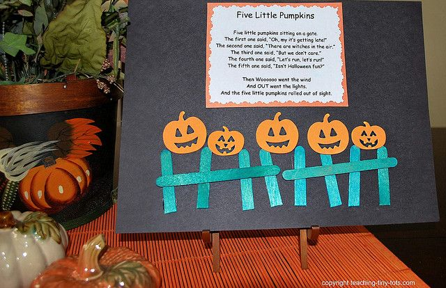 Five Little Pumpkins Halloween Theme Preschool Halloween