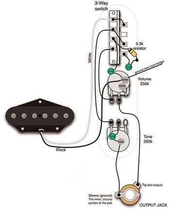 fender esquire tone circuit alternate tones for single pickup rh pinterest com Esquire Wiring Options Fender Esquire Wiring Harness