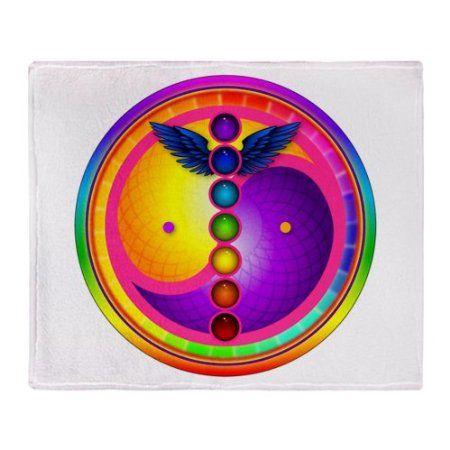 Amazon.com - CafePress Chakra Mandala Throw Blanket