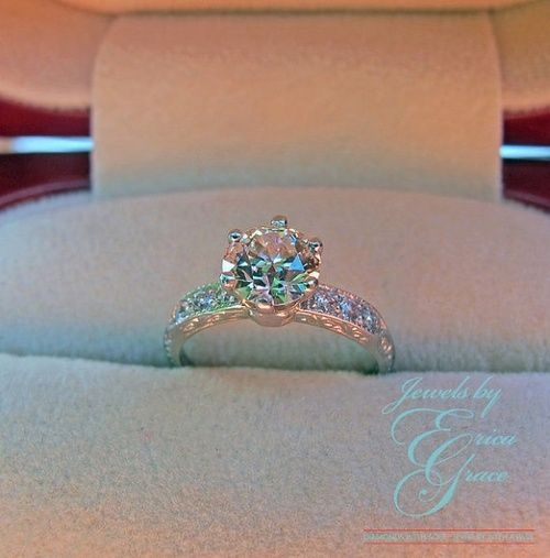 Vintage Tiffany Co Platinum Engagement. whew stop it. not a Bailey ...
