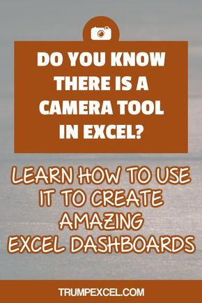 Excel Camera Tool - Create Images That Automatically Update - Create A Spreadsheet In Excel