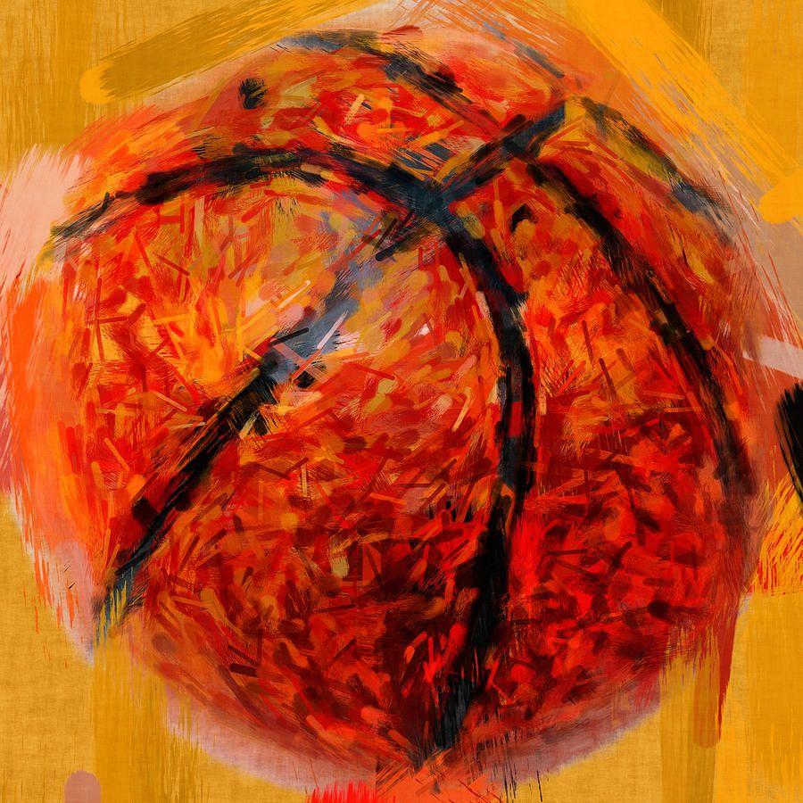 abstract basketball by david g paul