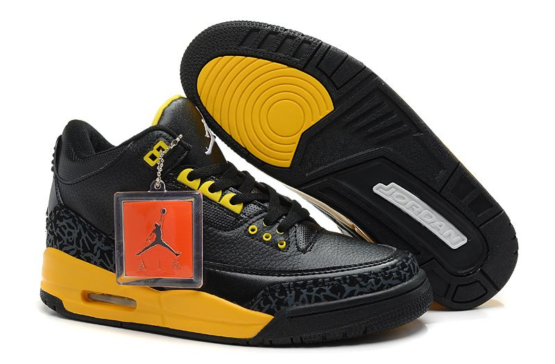 finest selection 9a72b aab81 Air Jordan 3 Black Cement Yellow | Jordan | Air jordans, Air ...