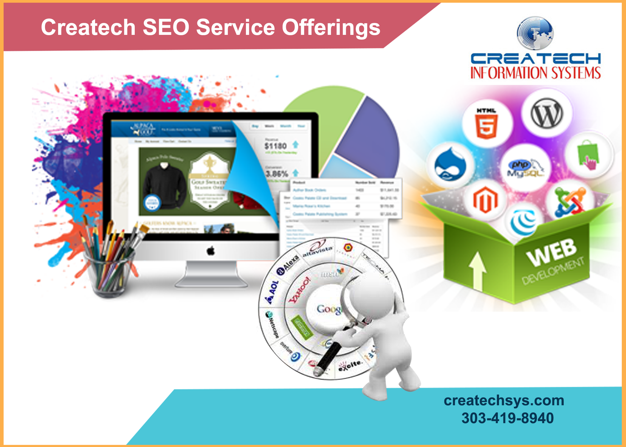Createch Information Systems provides efficient SEO, Web ...