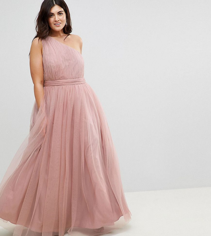 Plus Size Formal Dress for Prom | Plus Tulle One Shoulder Maxi Dress ...