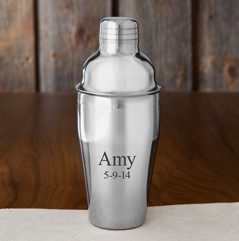 Engraved Cocktail Shaker Bar Gift Ideas Home Bar Gifts Pinterest