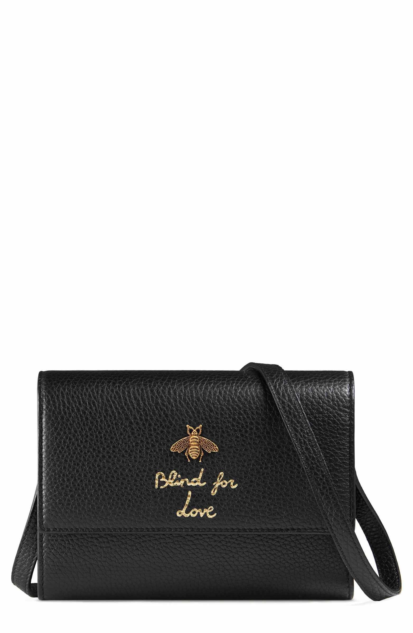 61b6ba3fc22e Main Image - Gucci Animalier Bee Leather Wallet | bag stuffs in 2019 ...