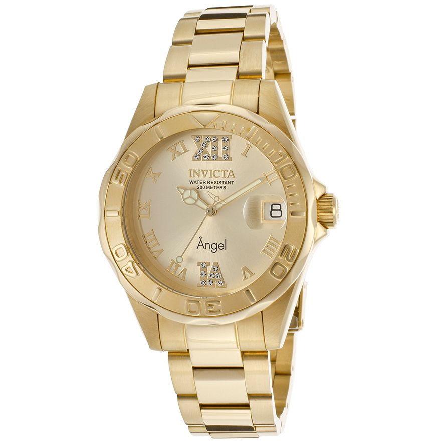 Invicta womenus angel bracelet k gold plated watch products