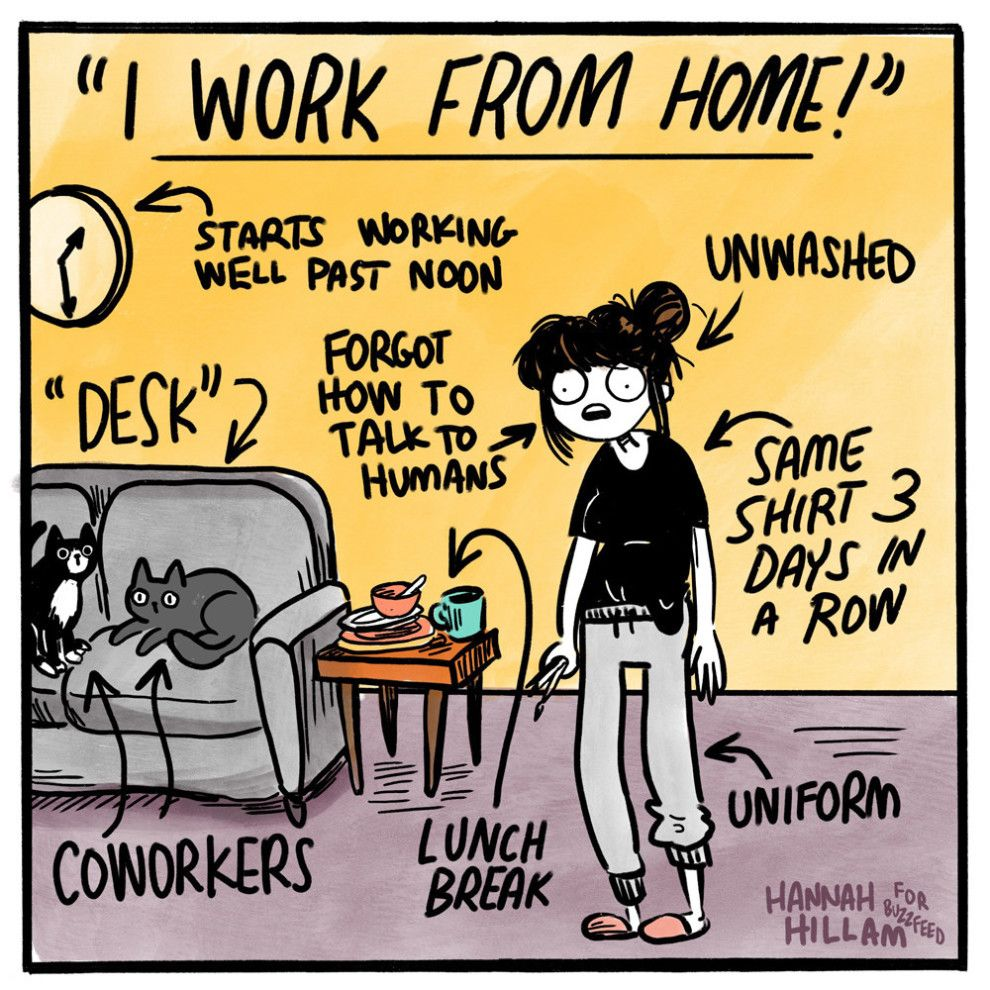 13 Comics That Get You If You Re Just Having A Rough Time Working From Home Meme Work Quotes Funny Work Humor