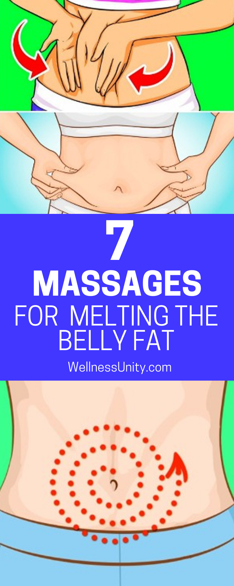 7 massages for  melting the belly fat