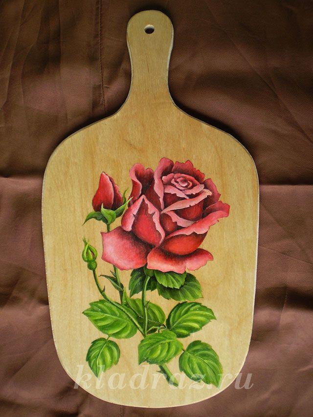 Роспись деревянной доски. Мастер-класс
