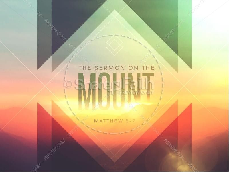 Sermon on the Mount Ministry PowerPoint | Sermon Graphics