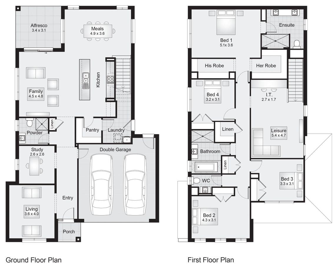 Parkhill 32 || Floor Plan - 301.00sqm, 11.30m width, 17.40m depth ...