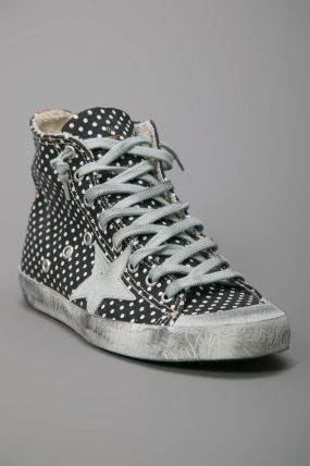golden goose polka dot high top sneaker