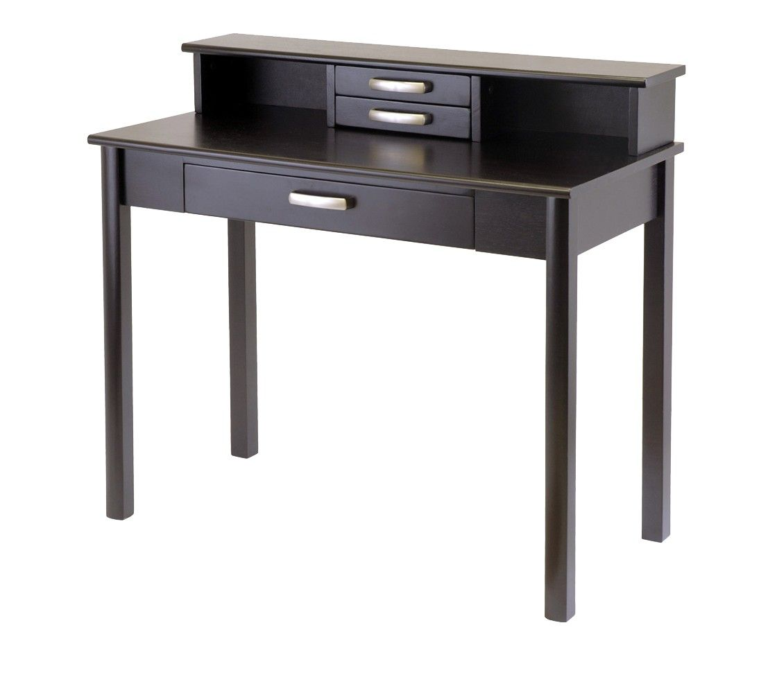 Winsome Liso Writing Desk with Hutch - Espresso | office | Pinterest ...