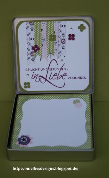 Stampin UP, Hochzeit, Dose , Karte, Tin Wedding Card, Simply Scrappin