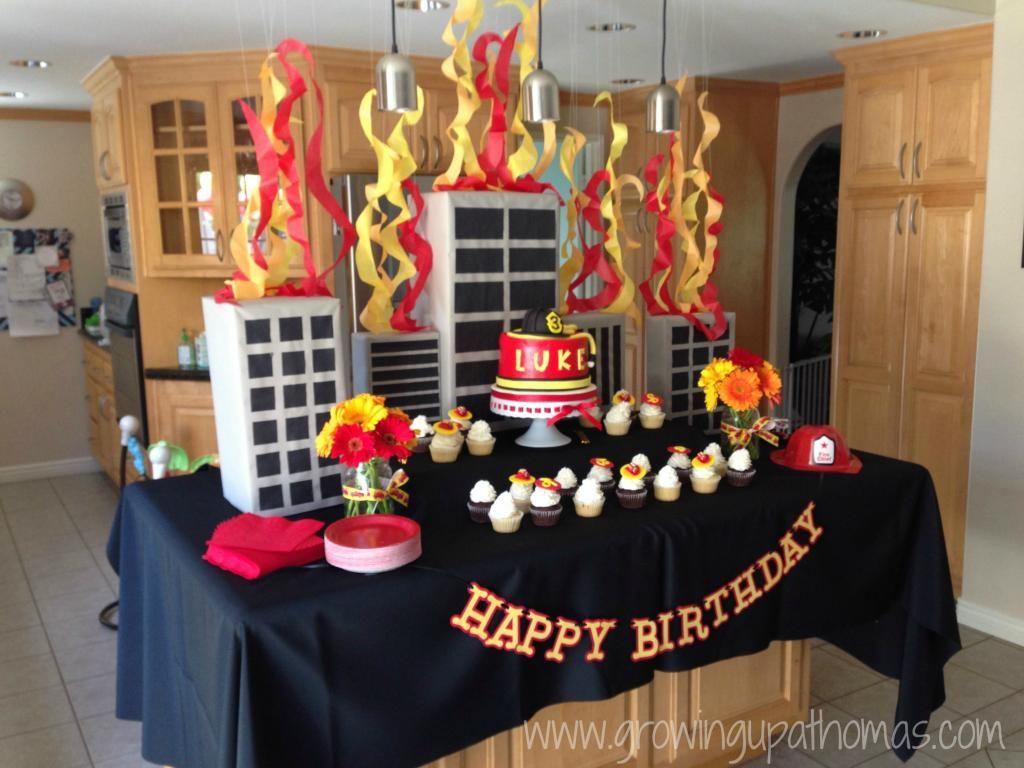Firetruck birthday party www growingupathomas com