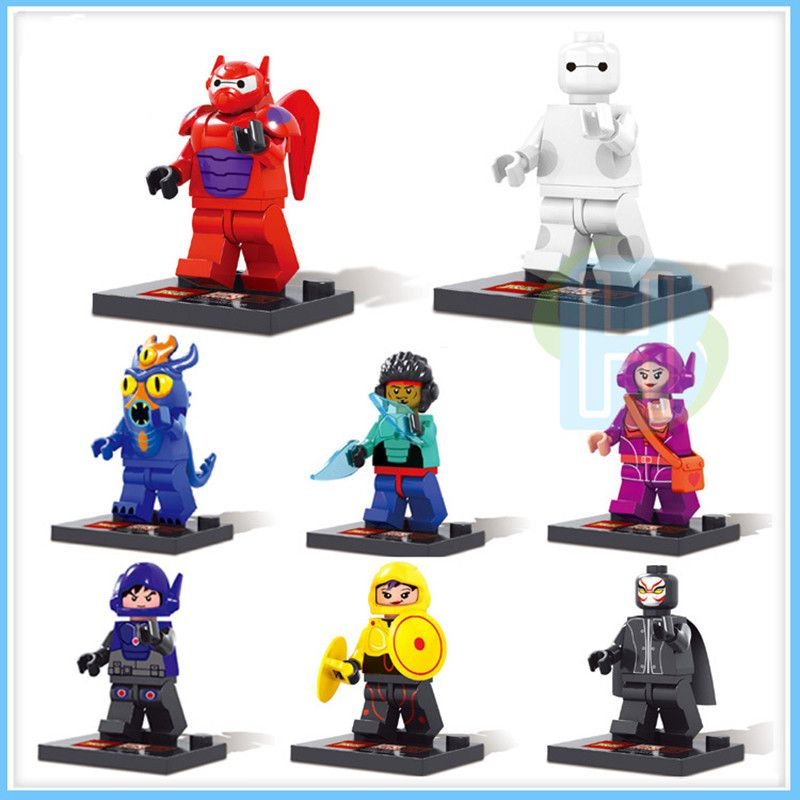 8pcs Big Hero 6 Minifigures Baymax Building Blocks Toys Price 14 98 Free Shipping Actionfigure Big Hero 6 Big Hero Lego Figures