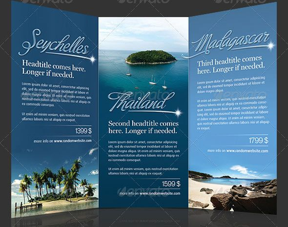 Vacation Brochure Template Travel A Trifold Brochure Template