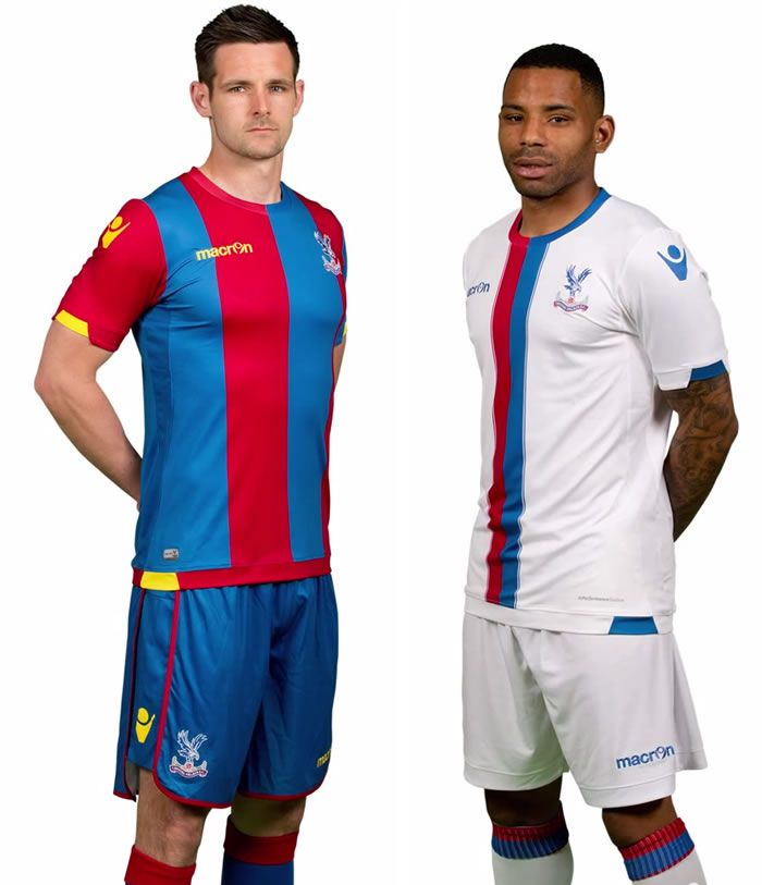 Crystal Palace 15/16 Macron Home & Away Shirts