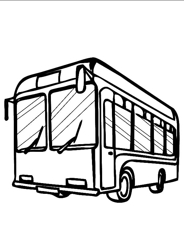 Pin Pa City Bus Coloring Pages