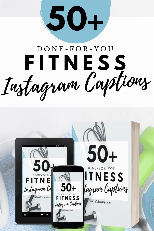 Instagram Captions Entrepreneurs 50 Fitness Personal Trainer Blogger Facebook Templates Premade Captions Caption Templates Canva In 2021 Instagram Captions Blog Social Media Fitness Instagram
