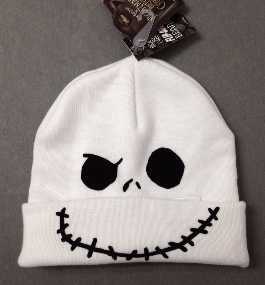 b82c87cc4a2fb NIGHTMARE BEFORE CHRISTMAS ROLL-DOWN FACE-MASK BEANIE Jack Skellington Knit  Hat  Disney  Beanie
