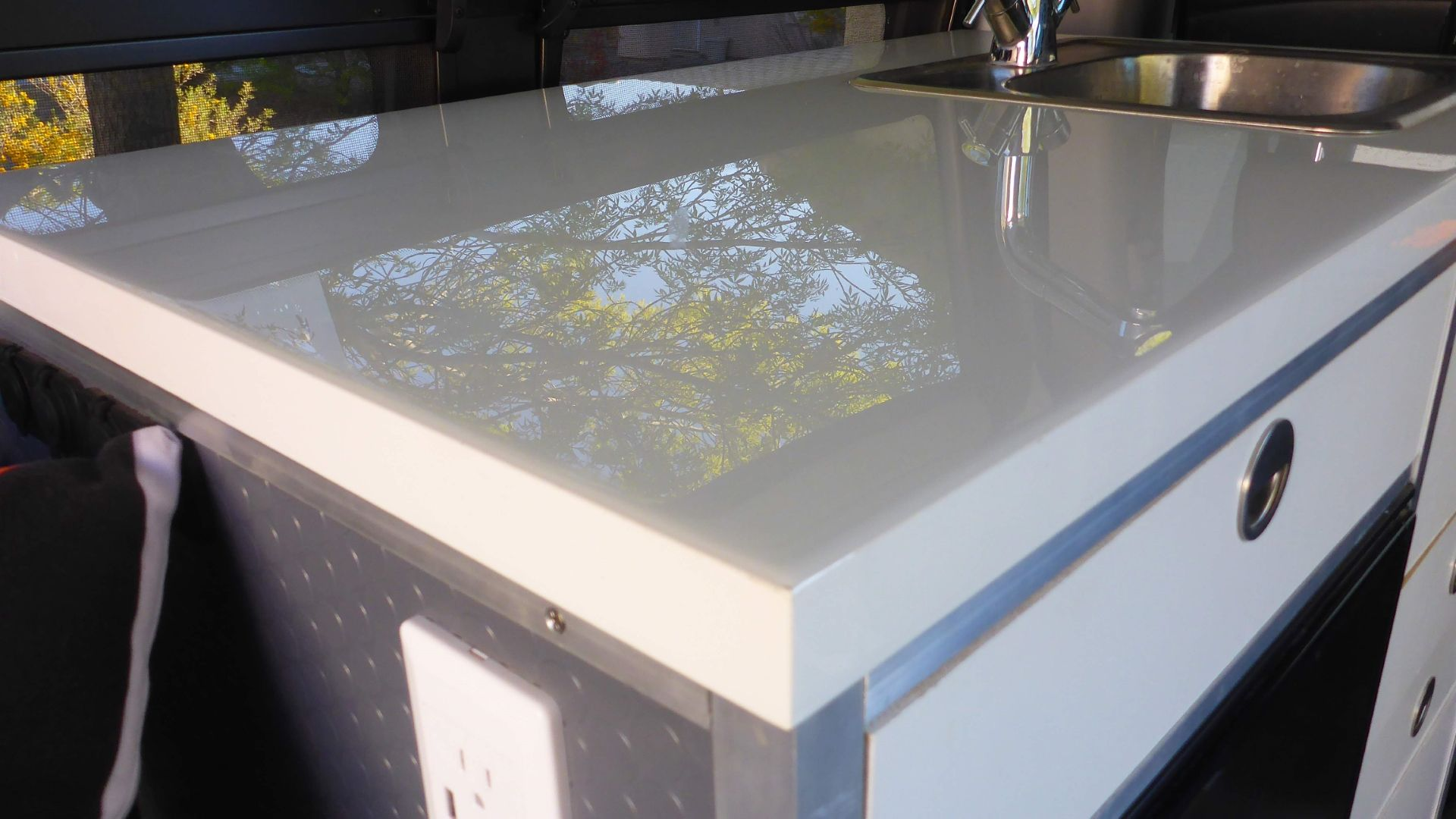Durable Countertop And Tabletop Solution For Our Sprinter Van